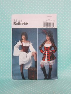 Pirate Costume Pattern. Cheapest Shipping. Sexy Swashbuckler Pattern, Steampunk Pirate Costume Pattern. Butterick 6114 Sz:8-22. New. Uncut by FashionSew on Etsy