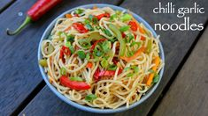 chilli garlic noodles recipe, garlic noodles, chinese noodles with step by step photo/video. party starter from indo chinese cusine with chili garlic flavor Veg Recipes, Spicy Recipes, Kitchen Recipes, Indian Food Recipes, Cooking Recipes, Pancake Recipes, Snacks Recipes, Easy Recipes, Chilli Garlic Noodles