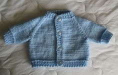 This Preemie sweater is knitted, not crocheted.  But I'm sharing this free pattern on this board.