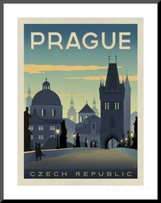 Prague, Czech Republic Posters by Anderson Design Group - AllPosters.co.uk