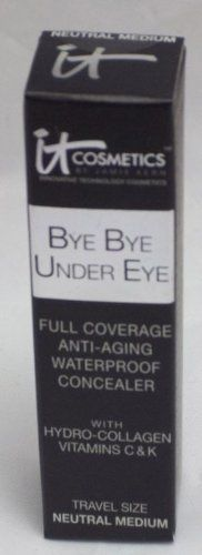 It Cosmetics Bye Bye Under Eye Full Coverage Anti-Aging Waterproof Concealer - Neutral Medium - 0.11 oz Travel Size -- Click on the image for additional details.