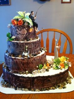 Fisherman's wedding cake! I WANT I WANT I WANT! :)