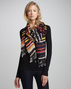 Striped Voile Scarf at CUSP.
