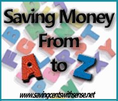Saving Money from A to Z - easy tips to help you save in the New Year