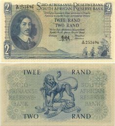R2,00 notes. It was worth one British pound once. Now it's a small coin that can buy....eh....eh....