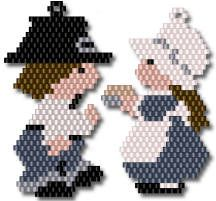 Pilgrim Jack and Jill by Charlotte Holley - Beaded Legends by Chalaedra