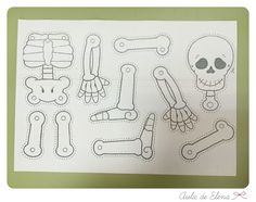 Esqueleto de Halloween en el Aula de Elena