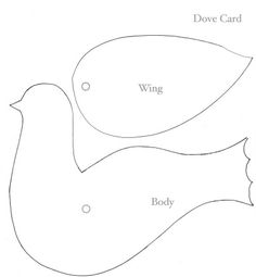 to doves face attach wing to body with paper fastener Bird Template, Tree Templates, Templates Printable Free, Printables, Felt Christmas Ornaments, Christmas Crafts, Bird Crafts, Paper Crafts, Quiet Book Templates