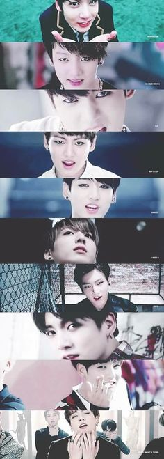 Transformation of Kookie through the years.