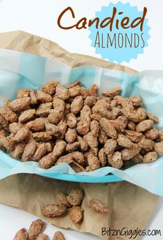 Candied Almonds - These almonds taste just like the ones they make in those kiosks at the mall for half the price! #almonds