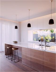 Lovely Minimalist Kitchen Decor And Design Ideas - Küche Ideen Home Decor Kitchen, Interior Design Kitchen, Home Design, New Kitchen, Home Kitchens, Kitchen Ideas, Room Interior, Kitchen Inspiration, Kitchen White