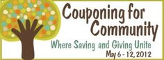 Couponing for Community is an effort by couponers all over America to use the power of couponing to make a united impact.  We invite you to join this community of couponers by using your couponing skills to give to a homeless shelter, food pantry, or a friend in need during the week of May 6-12, 2012!  May 12 is also National Stamp Out Hunger day, so giving is as easy as leaving a bag of non-perishable items by your mailbox.