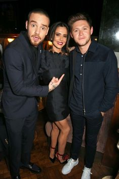 Liam Cheryl and Niall With Niall looking all grown up