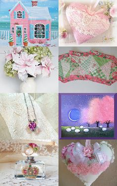 Holiday Gifts in Pink by arcadecache on Etsy--Pinned with TreasuryPin.com