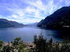Lago Chapo, Region de los Lagos, en el sur de Chile. I should think about a trip to Chile...