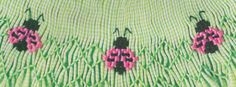 Ladybug, Ladybug, Fly Away Home By Mary Willingham Creative Needle Magazine, April 2008 Smocking Plates, Smocking Patterns, Embroidery Patterns, Sewing Patterns, Sewing Designs, Baby Sewing Tutorials, Sewing Hacks, Sewing Projects, Easy Projects