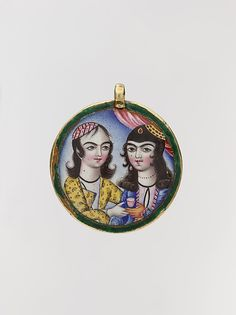 Portrait of a Couple in a Round Pendant, late 18th century. Iran. The Metropolitan Museum of Art, New York. Gift of Mrs. Frederick F. Thompson, 1920 (20.106.5)