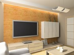 Indirekte Beleuchtung an der TV Wand