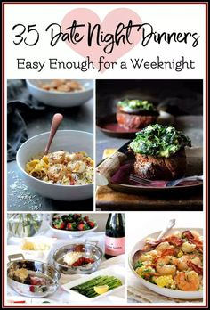 Valentine's Day falls on a weeknight this year so it may or may not be convenient for you to enjoy a dinner out with your sweetheart. If you're planning to celebrate at home, here are 35 lovely dinners that are easy enough for a weeknight yet elegant enou Orange Glazed Salmon, Cherry Tomato Salad, Braised Chicken Thighs, Date Night Dinners, Date Night Recipes, Vegetables For Babies, Sweet Potato Wedges, Bruschetta Chicken, Roasted Sweet Potatoes