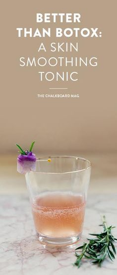 Toss back a glass of this fascinating, delicious and potent tonic, crafted as a natural wrinkle remedy that could rival it's more high-tech counterparts… Anti Aging Skin Care, Natural Skin Care, Natural Beauty, Natural Wrinkle Remedies, Tonic Drink, Anti Aging Supplements, Wrinkled Skin, Smoothie Drinks, Smoothies