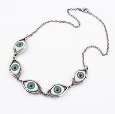 Characteristic Punk Style Satanic Eye Shape Necklace For WomenNecklaces | RoseGal.com