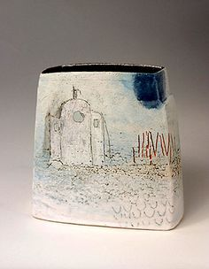 Ceramics by Craig Underhill at Studiopottery.co.uk - 2009 Across the water Height 24cm.