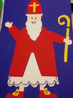 Sinterklaas : knip en plak werkje