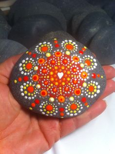 Jewel drop mandala stone