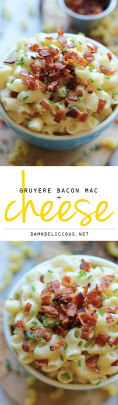 Gruyere Bacon Mac and Cheese - An easy stovetop, no-fuss, 30 min mac and cheese from start to finish!