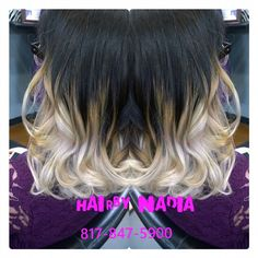 #ombre by Nadia at our #FossilCreek location. 817-847-5900 #salonpurple #teampurple #purpleworld #colorproof #pravana #nadiajabali #TerryWhiddon