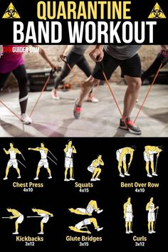Anyone, at any fitness level, can benefit from using resistance bands. They add an extra challenge to bodyweight exercises but don't put the same sort of pressure on your joints that external weights, like dumbbells and kettlebells, do. Workout Songs, Gym Workouts, At Home Workouts, Morning Workouts, Best Biceps, Fitness Tips, Fitness Motivation, Stretch Band, Endurance Training