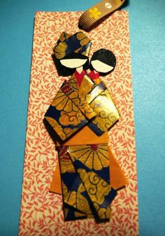 #washi #chiyogami #doll #momiji #mrwashisancreation #mum   #paper #handmade #bookmark #diy