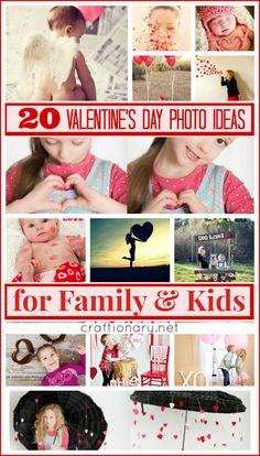 20 Valentines Day Photo Ideas for Family and Kids - Craftionary #photography #valentinesday