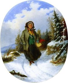 Cornelius Krieghoff Going to Market, painting Authorized official website