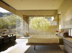 Sonoran Minimalism - modern - bedroom - phoenix - David Michael Miller Associates It's glamping! Sort of...