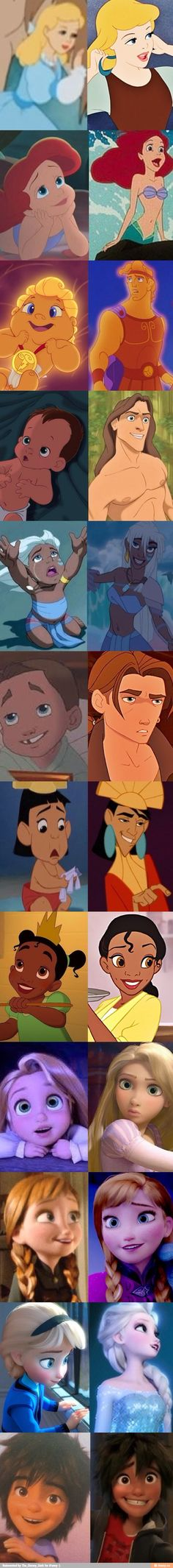 Young Disney Characters