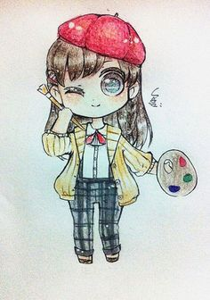 Cute anime drawing~