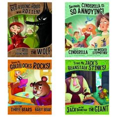 "Great fairy tales from the perspective of the ""other"" character.  Great for teaching Point of View!"