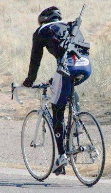 Occasionally I feel like I should be carrying this piece equipment while on my ride.  Source:Cyclelicious