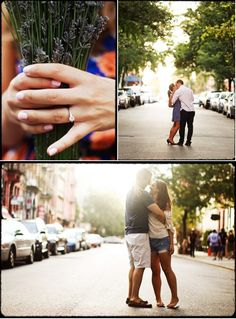 New York City Engagement Session by Eric Laurits | Style Me Pretty
