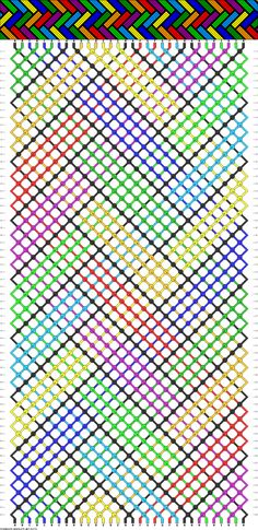 Stained Glass looking friendship bracelet pattern