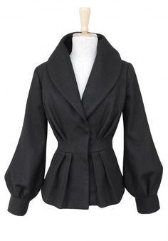 WYPRZEDAŻ! Leila kurtka 100% wełna, czarna (sprzedawca: kasia zapała), do kupienia w DecoBazaar.com