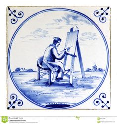 Delftware Tile - Download From Over 29 Million High Quality Stock Photos, Images, Vectors. Sign up for FREE today. Image: 9313368