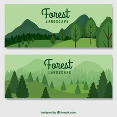 More than a million free vectors, PSD, photos and free icons. Exclusive freebies and all graphic resources that you need for your projects Illustration Jungle, Illustration Design Plat, Business Illustration, Character Illustration, Mountain Illustration, Watercolor Illustration, Forest Landscape, Landscape Design, Pine Tree Art