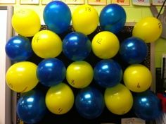 What a GREAT IDEA for the end of the school year! This is a countdown bulletin board full of balloons with a fun activity inside of them for each day left at school. The ideas are simple to make the last days FUN, such as bubble gum day, sit wherever you want, hat day, shoes off day, etc.