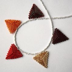 Autumn Themed Beaded Bunting Necklace £15.00