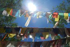 Prayer Flags at the Tibetan Stupa...