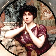 View A classical beauty by John William Godward on artnet. Browse upcoming and past auction lots by John William Godward. John William Godward, William Adolphe Bouguereau, Lawrence Alma Tadema, Picasso, Architecture Classique, Pre Raphaelite, Classical Art, Beauty Art, Portrait Art