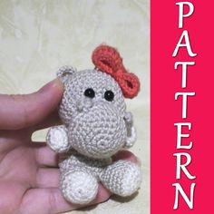 Items similar to Hippo - PDF crochet pattern on Etsy Stuffed Animals, Yoshi, Crochet Patterns, Crochet Hats, Dolls, Etsy, Trending Outfits, Unique Jewelry, Handmade Gifts