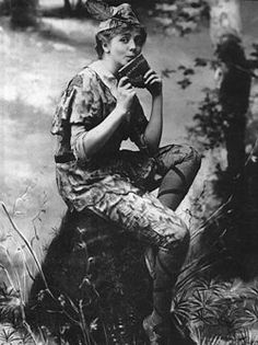 Maud Adams (Nov. 11, 1872 - July 17, 1953), first playing the role in the 1905 Broadway production of Peter Pan; or, The Boy Who Wouldn't Grow Up. A celebrated stage actress in the 1890s and early 1900s in the US… - in fact the highest paid theatre star of her epoch, with a yearly income of more than one million dollars during her peak.